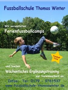Flyer Fußballschule Thomas Winter